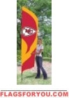 Chiefs Tall Team Flag 8.5' x 2.5'