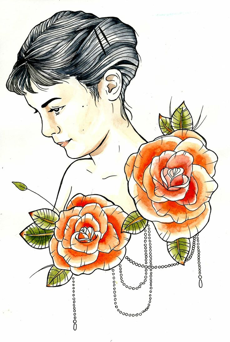 amelie poulain tattoo design colour by ziuuziuu.deviantart.com
