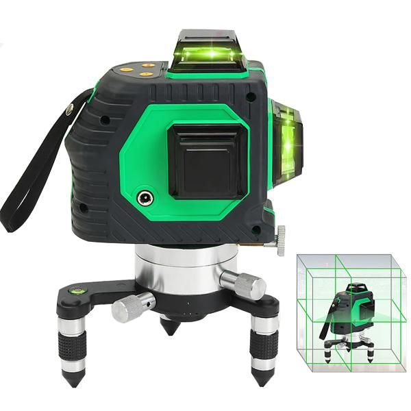360 12 Line 3d Green Laser Level Self Leveling Vertical Horizontal Cross Level Ergaleia