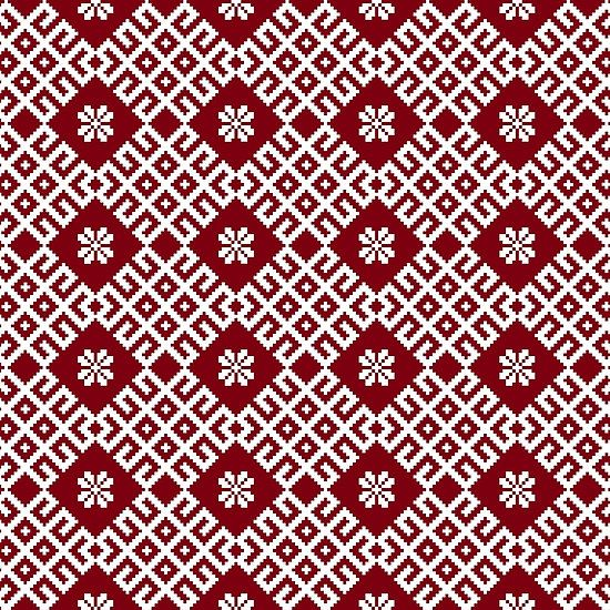 Latvian traditional pattern