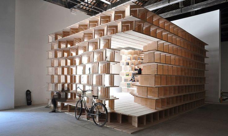 Slovenia's pavilion at the 2016 Venice Architecture Biennale is a habitable system of bookshelves | Inhabitat - Green Design, Innovation, Architecture, Green Building