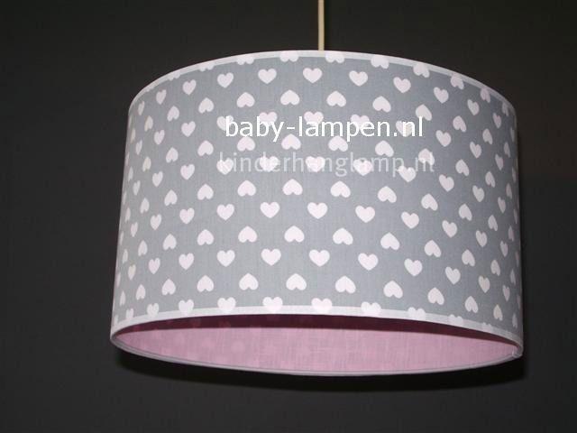 Baby Lampen Nl : Babylamp grijs witte hartjes roze binnenkant babykamer