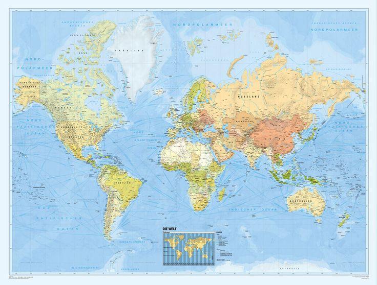 Las 25 mejores ideas sobre weltkarte politisch en pinterest y m s karte deutschland landkarte - Fotomurales national geographic ...