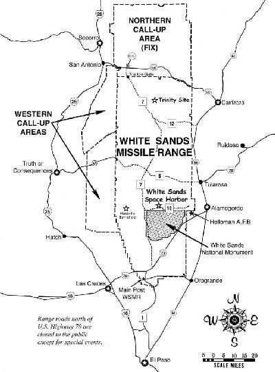 White Sands New Mexico Army Base | Location/Driving Directions to White Sands Missile Range, New Mexico