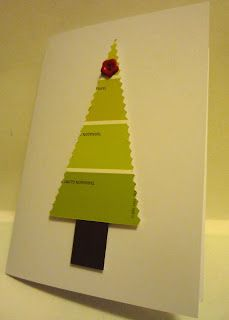 buttons and paint...: ... and Paint Swatch Christmas Cards