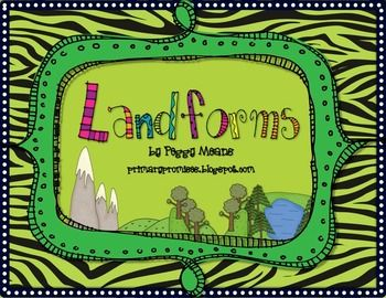 This is a great set to teach landforms to your students. The little book is in a riddle format so it will require your students to use critical thinking to solve. However, there are the Anchor Charts and Small Picture Cards to scaffold for the successful learning for all students.