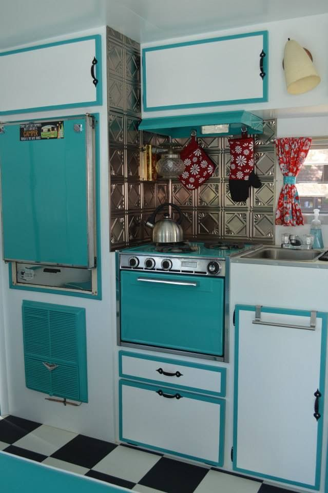 Turquoise And White Vintage Campers Pinterest Turquoise
