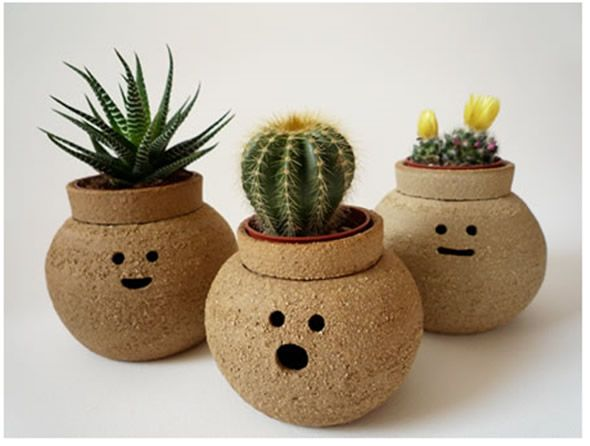 Cute Flower Pot Ideas | Hairy Babes – Funny Ceramics Plant Pots