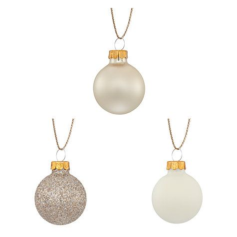 Buy John Lewis Enchantment Mini 3cm Baubles, Pack of 28, Multi Online at johnlewis.com
