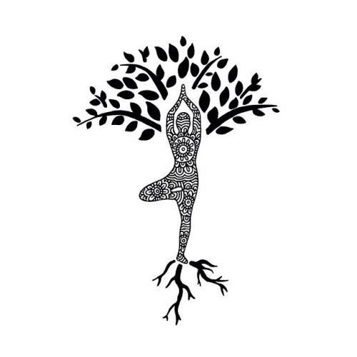 Der Baum: Halt durch die Wurzeln, die Balance halten in der Mitte und die Energie in die Blätterspitzen leiten.