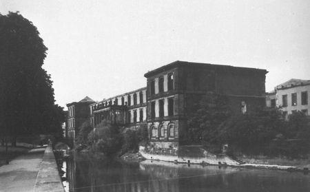 Ausgebombtes Leineschloss 1955, Quelle: Bildarchiv Foto Marburg