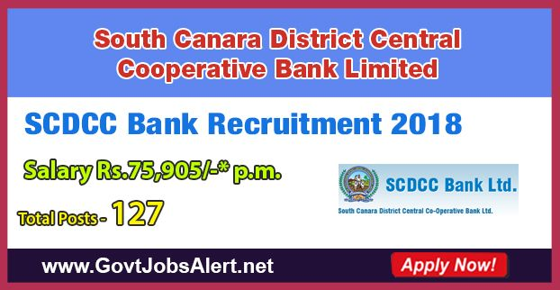 SCDCC Bank Recruitment 2018 - Hiring 127 Post Computer Programmer and Second Division Clerk Posts, Salary Rs.75,905/- : Apply Now !!!  The South Canara District Central Cooperative Bank Limited – SCDCC Bank Recruitment 2018 has released an official employment notification inviting interested and eligible candidates to apply for the positions of Computer Programmer and Second Division Clerk. The eligible candidates may apply online through the official website (given below