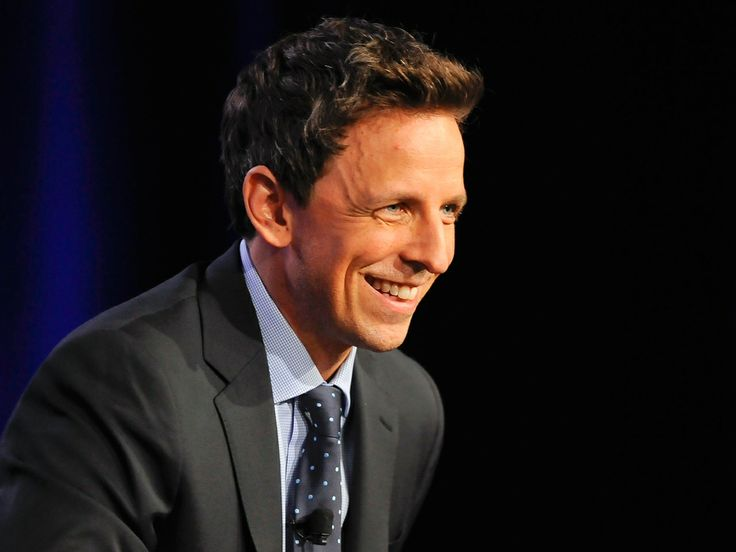 Seth Meyers' last 'SNL' read-through is a feast for the eyes