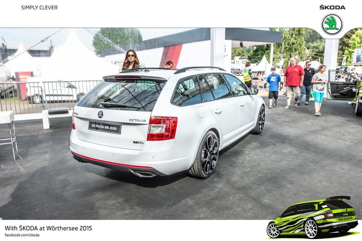 The Octavia Combi RS 230 accelerates from 0 to 100 km/h in just 6.8 seconds, and can reach a top speed of 247 km/h #SKODAWoerthersee #RS230