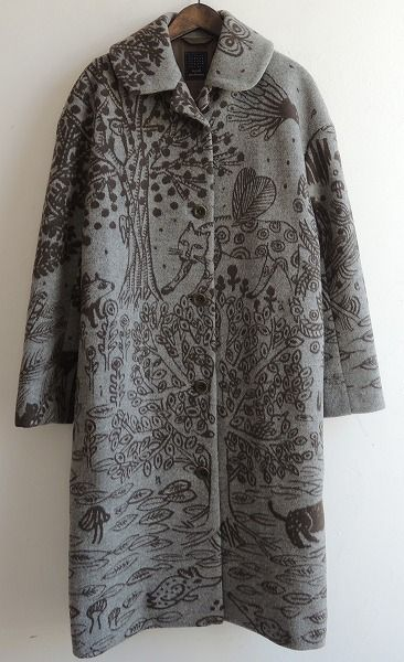 mina perhonen printed coat