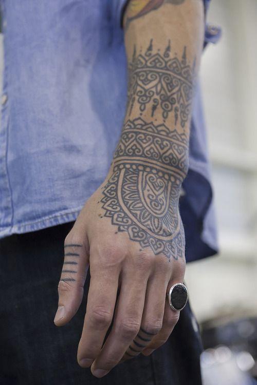 Beautiful Black Pattern Ink On Arm http://tattoo-ideas.us/beautiful-black-pattern-ink-on-arm/