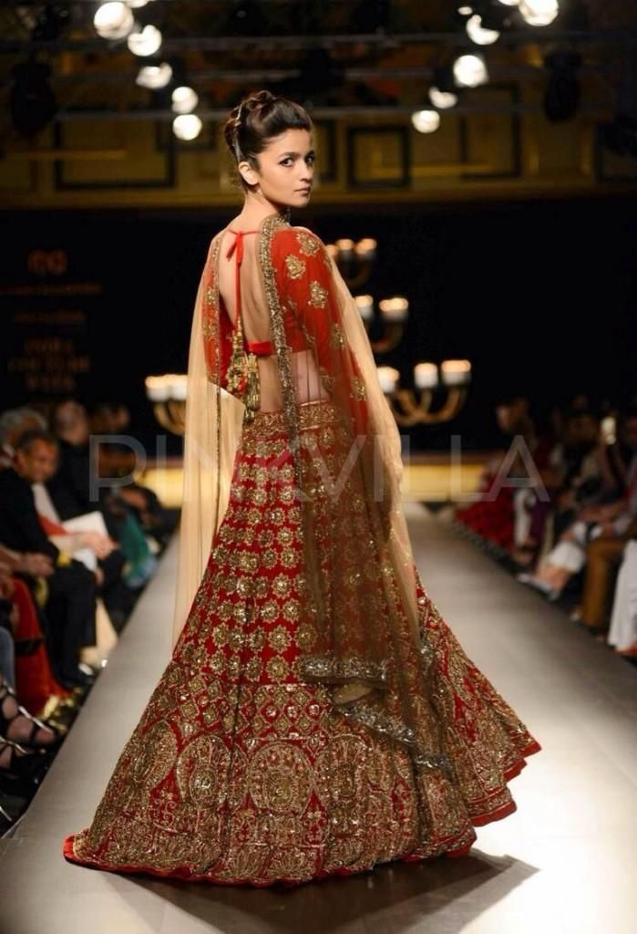 Alia Bhatt for http://www.ManishMalhotra.in/ at Shree Raj Mahal Jewellers India Couture Week (July) 2014
