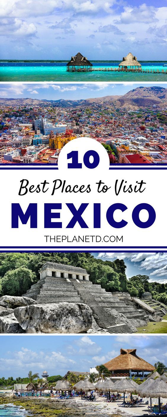 Mexico is an incredible travel destination that offers something for everyone, whether it be amazing beaches, colonial towns and cities, ancient ruins or incredible food and cuisine. Here are ten of the best places to visit in Mexico, from Oaxaca City to Isla Holbox and beyond. | Blog by the Planet D #Mexico #Travel