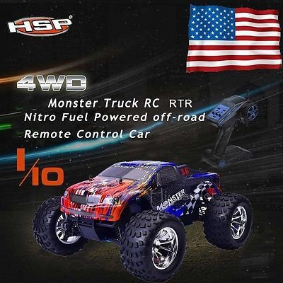 Price - $189.00. HSP 94188 1/10 Scale Nitro Gas Power Off Road Monster Truck 4Wd 2.4G RTR RC Car ( 4WD/2WD - 4WD, Brand - HSP, Characteristics - Tuning, Color - random, Fuel Type - Gasoline, Model - 94188, Model Grade - Hobby Grade, MPN - Does Not Apply, Product Line - Mini-Z, Recommended Surface - Off-Road, Required Assembly - Ready to Go/RTR/RTF (All included), Scale - 1:10, Type - Monster Truck, UPC - Does not apply    )