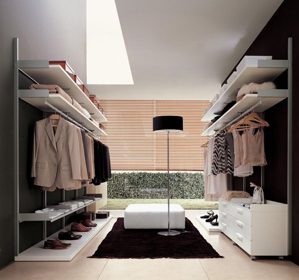 Just like in the shops. Simple and clean layout walk in closet. Also includes his/her sides! Love the lighting - making clothes selection a joy!