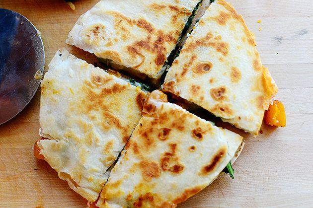 butternut squash kale quesadillas butternut squash kale quesadillas ...