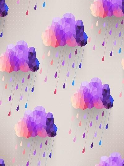 Kate Purple Meteor Shower Gray Wall Backdrop For Children