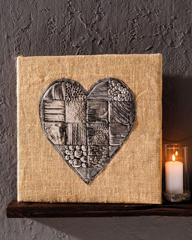 Herz mit Creative Tools geprägt - Geschenke Muttertag und Valentinstag