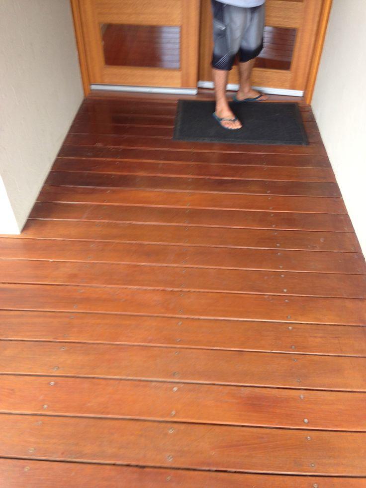 boardwalk decking to front door