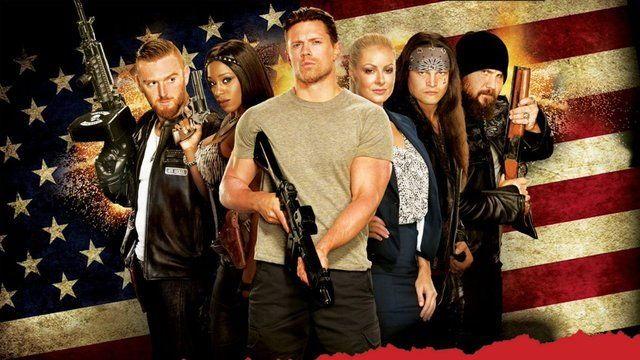 The Marine 5 : Heath Slater, Naomi, The Miz, Maryse, Bo Dallas and Curtis Axel