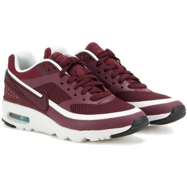 Nike Air Max Bw Ultra Sneakers ($165) ❤ liked on Polyvore featuring shoes, sneakers, red, red shoes, nike sneakers, nike, mesh shoes and red sneakers