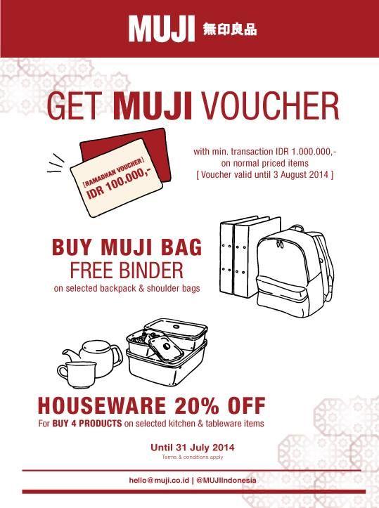 MUJI 無印良品: Promo Get Muji Voucher @mujiindonesia
