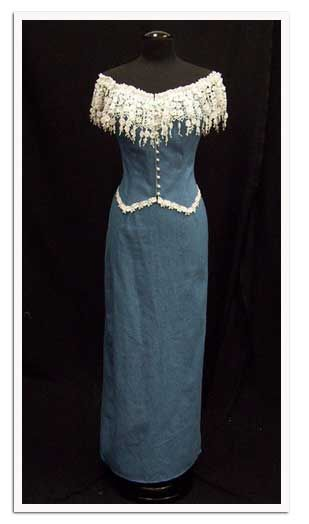 Jean Wedding Dresses | yes it s a denim prom dress a prom dress made from denim as for the ...