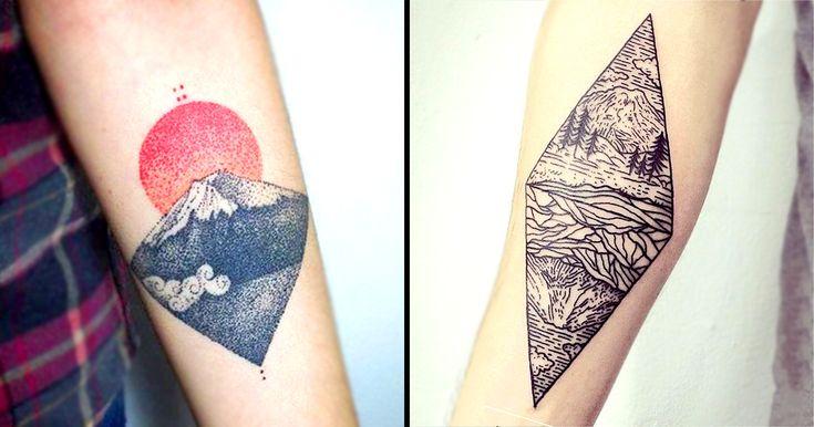 An iconic symbol of Japan Mount Fuji translates beautifully onto the body!
