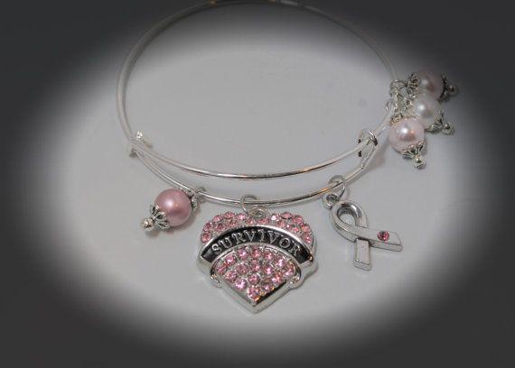 Breast Cancer Survivor Bracelet Gifts/Breast by SusanSerdarGallery
