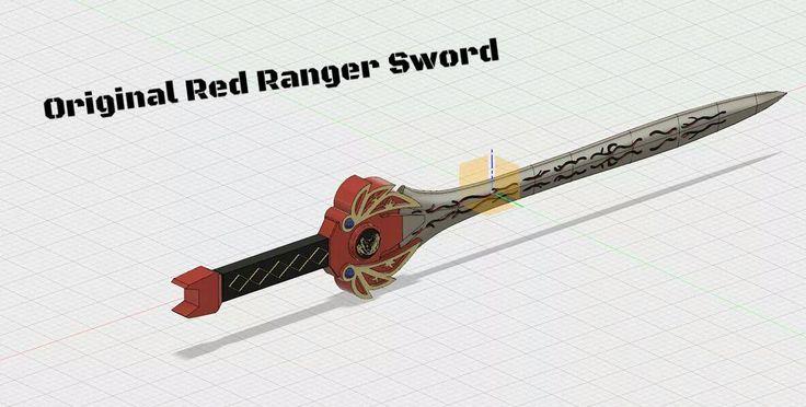 Original Power Ranger Red Ranger Sword - done in Fusion 360