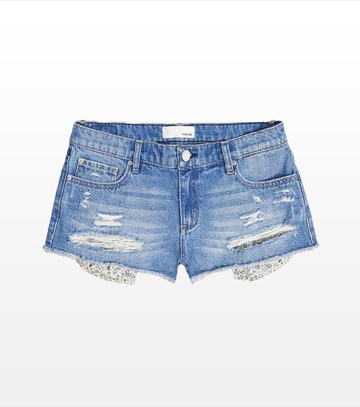 Summer Peek-a-Boo Flirty Festival Denim Shorts.