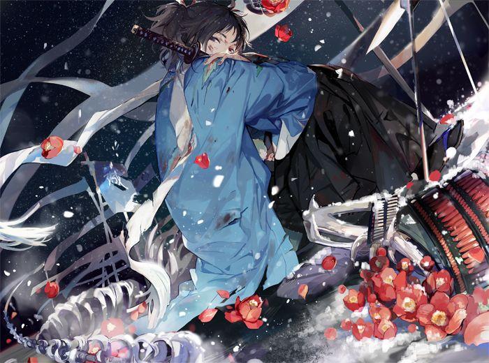 Artist: Nineo | Touken Ranbu | Kebiishi | Yamato no Kami Yasusada