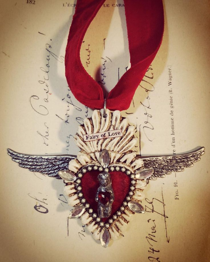 A Day In The Life Of A Jewelry Muse — Another @relicsandartifacts flaming heart I made...