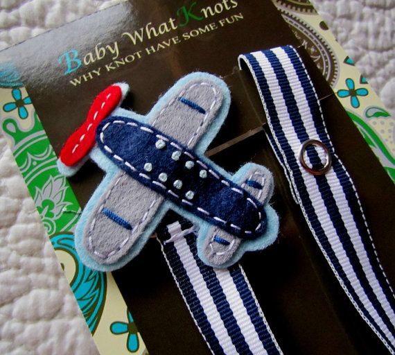 Baby Boy Pacifier Clip Airplane Pacifier Clip by babywhatknots, $8.75