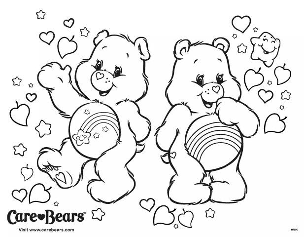 Colouring Pages Care Bears Easter Crafts Operation Christmas Child Cousins 2nd Birthday Worksheets Relax Art Therapy