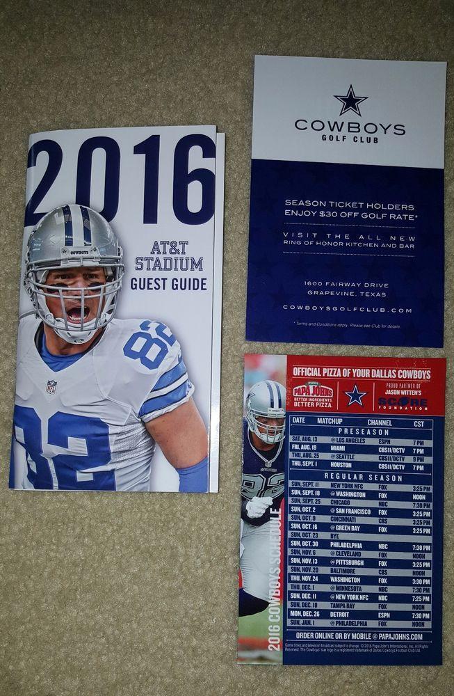 2016 Dallas Cowboys NFL Season Ticket Holder Stadium Guide, Magnet Schedule