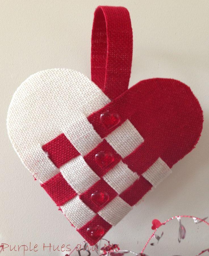 Woven Heart Basket Craft : Best images about bbburlap on burlap