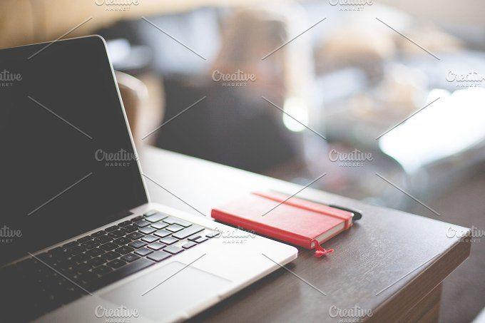MacBook and Moleskine Diary Ready by Viktor Hanacek on @creativemarket