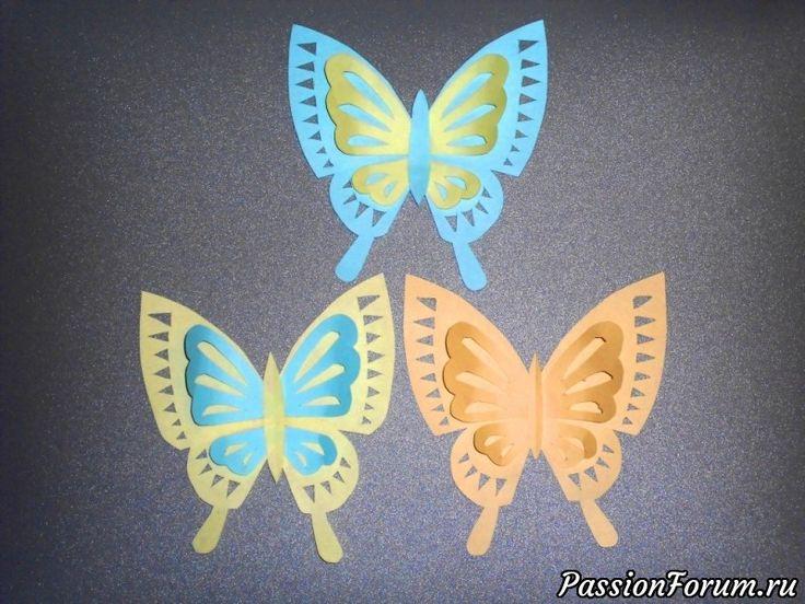 Бабочки из бумаги Детские поделки