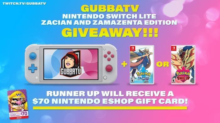 Giveaway Machine Pokemon Switch Lite Plus Sword Or Shield Game Nintendo Eshop Nintendo Nintendo Switch