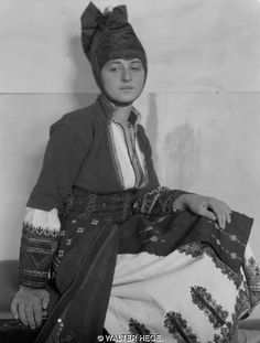 Greek Women Wearing Traditional Costumes photographed btwn 1928-1935 by Walter Hege | Arch. Bildarchiv Foto Marburg
