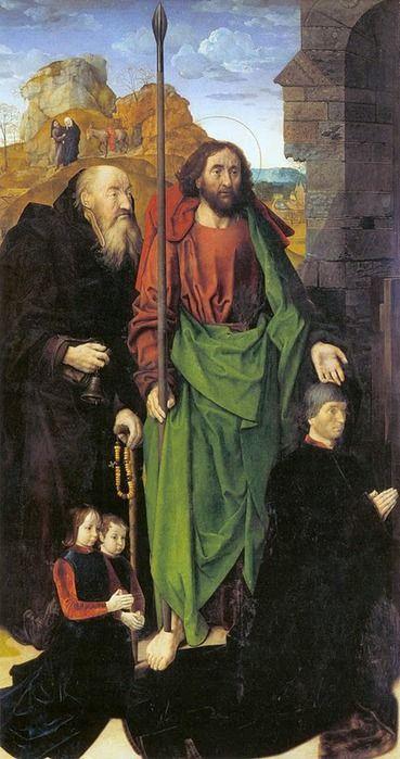 """Левая часть триптиха """"Алтарь Портинари"""" около 1474–1475"""