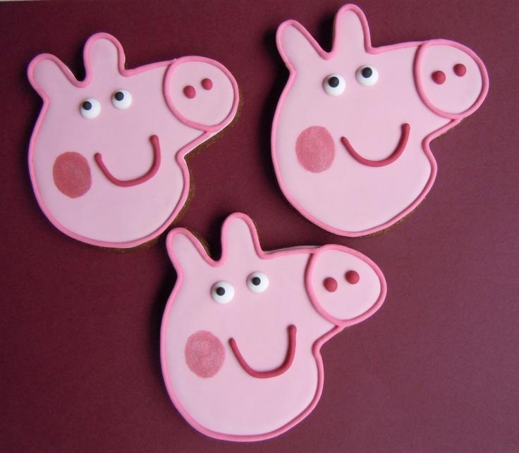 10 Peppa Pig Party Cookies    18 00  Via Etsy