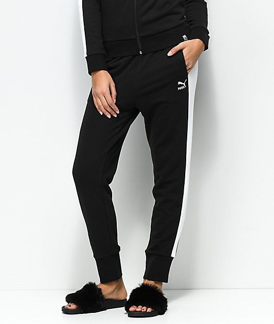 a4a00ee9be5d PUMA Archive Logo T7 Black Sweatpants in 2019