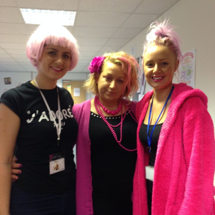 Hannah, Aga & Jess all in pink in aid of Wear It Pink Day